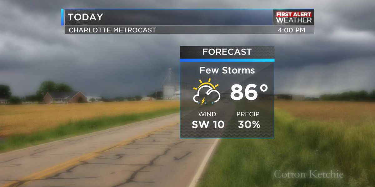Storm chances low today, rain chances ramp up on Friday