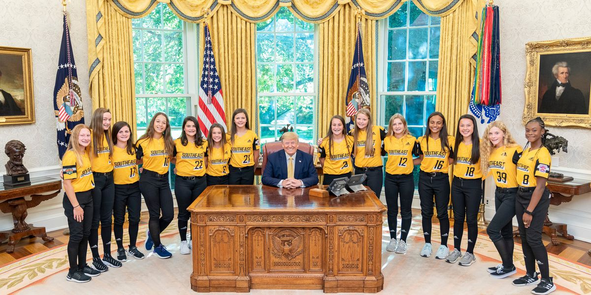Rowan Little League World Champs meet President Trump at White House