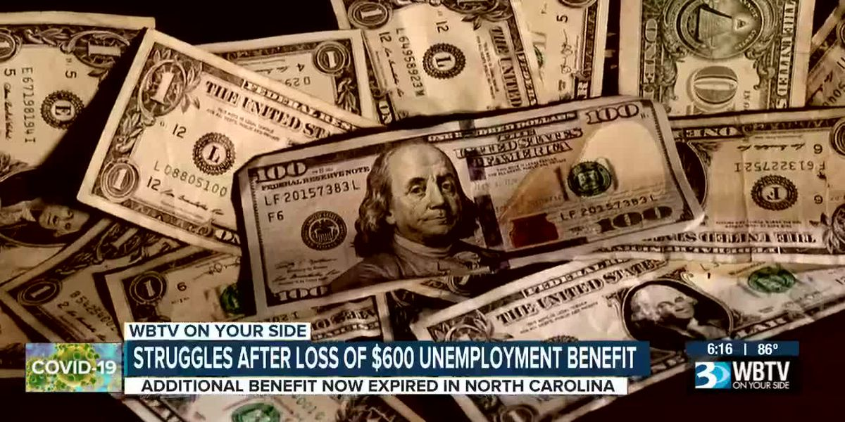 Struggles after loss of $600 unemployment benefit
