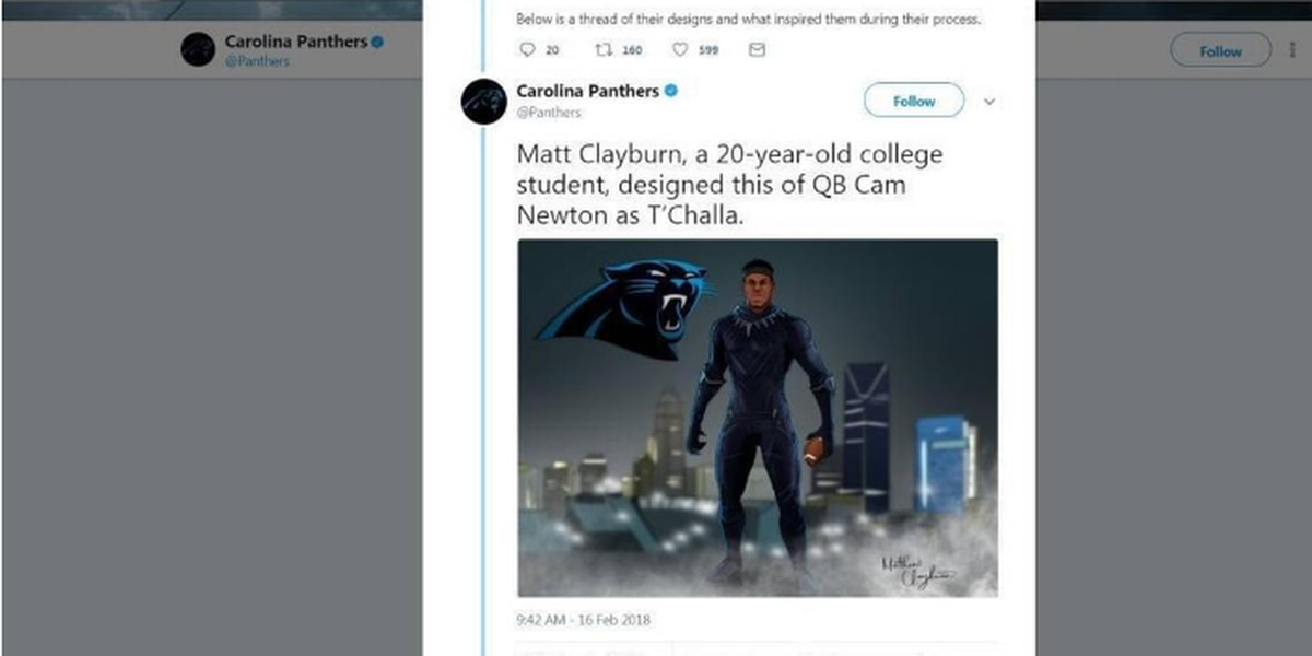 The Carolina Panthers wanted 'Black Panther' inspired team art. Here's what happened.