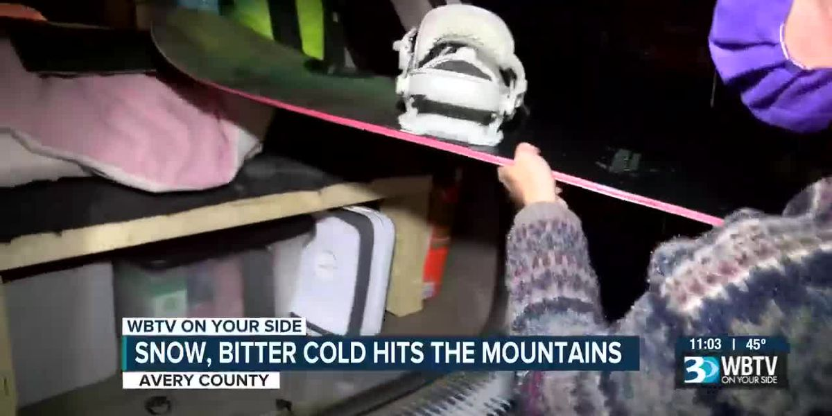 Snow, bitter cold hits the mountains