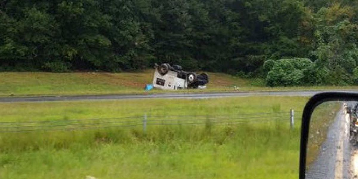 Armored Loomis truck overturns on Hwy 321 in Gaston County