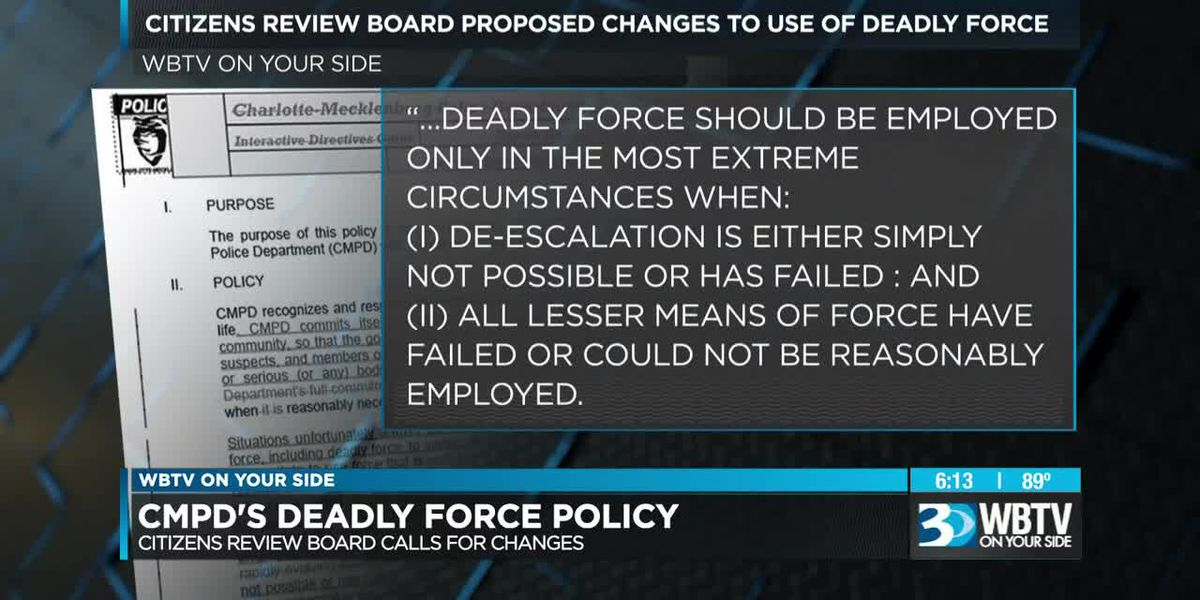 Citizens Review Board waiting for changes to CMPD's use of deadly force policy