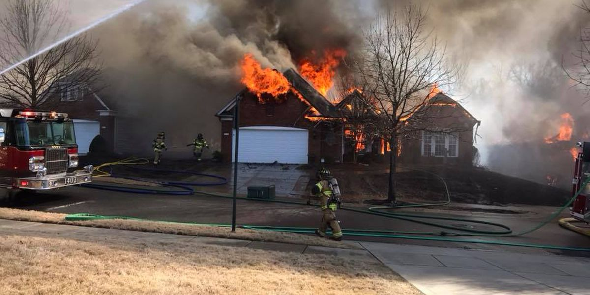 15 displaced after fire destroys three homes in indian