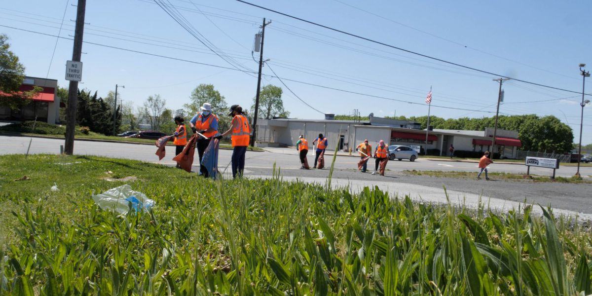 Cabarrus employees team up to beautify Concord's Church Street