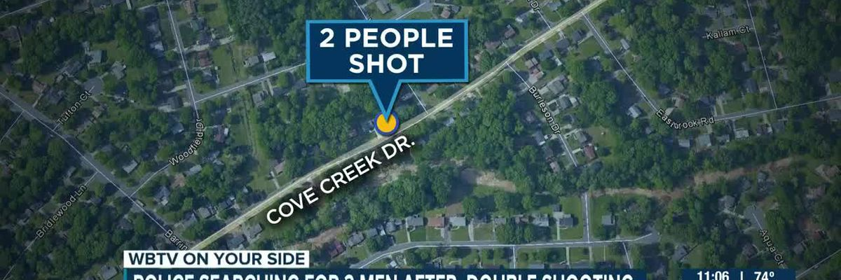 Police searching for 2 men after double shooting