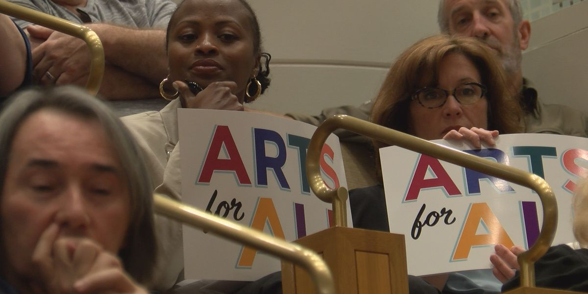 Dozens pack Mecklenburg County Commissioners meeting to support sales tax referendum that would benefit arts programs