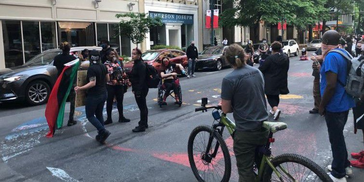 Dozens protest in Charlotte against racism, police brutality as Derek Chauvin trial nears end