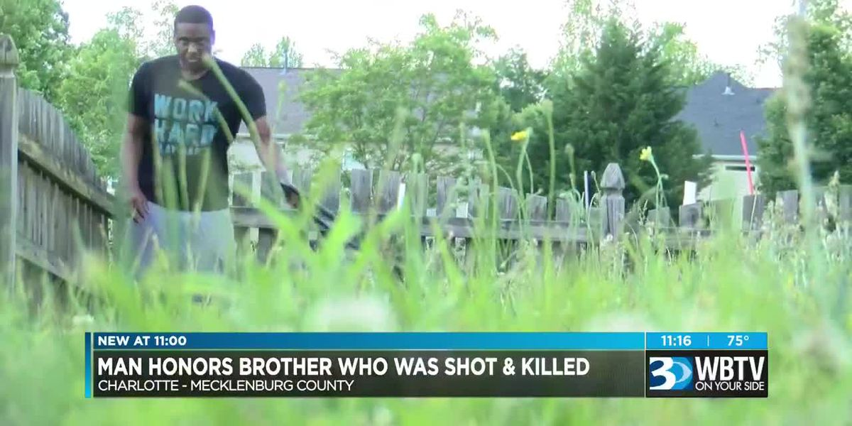Man mows lawns for free to honor brother killed in Charlotte shooting