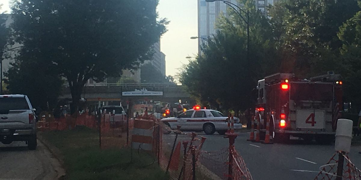 Gas leak closes uptown road, evacuates nearby building