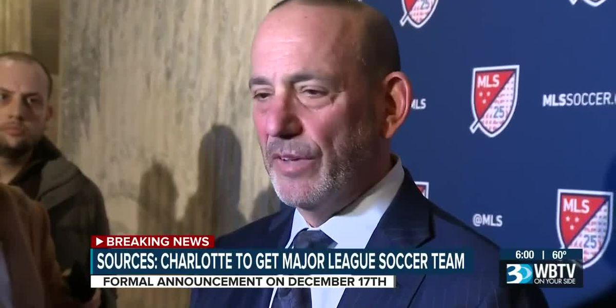 Source: Charlotte to Get MLS Soccer Team