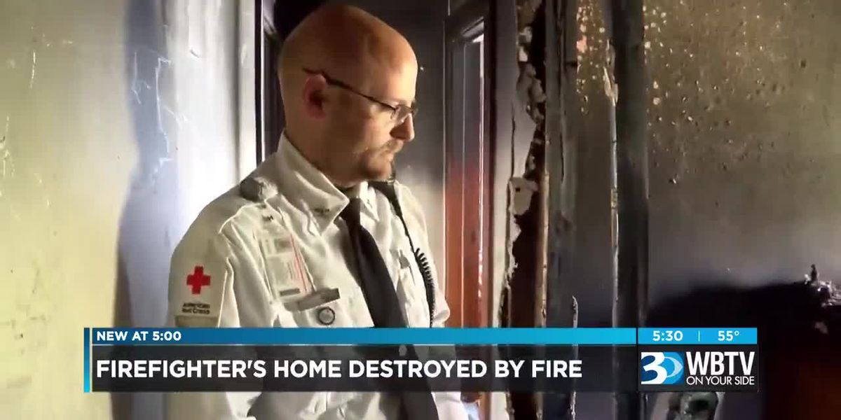 Firefighter's home destroyed by fire