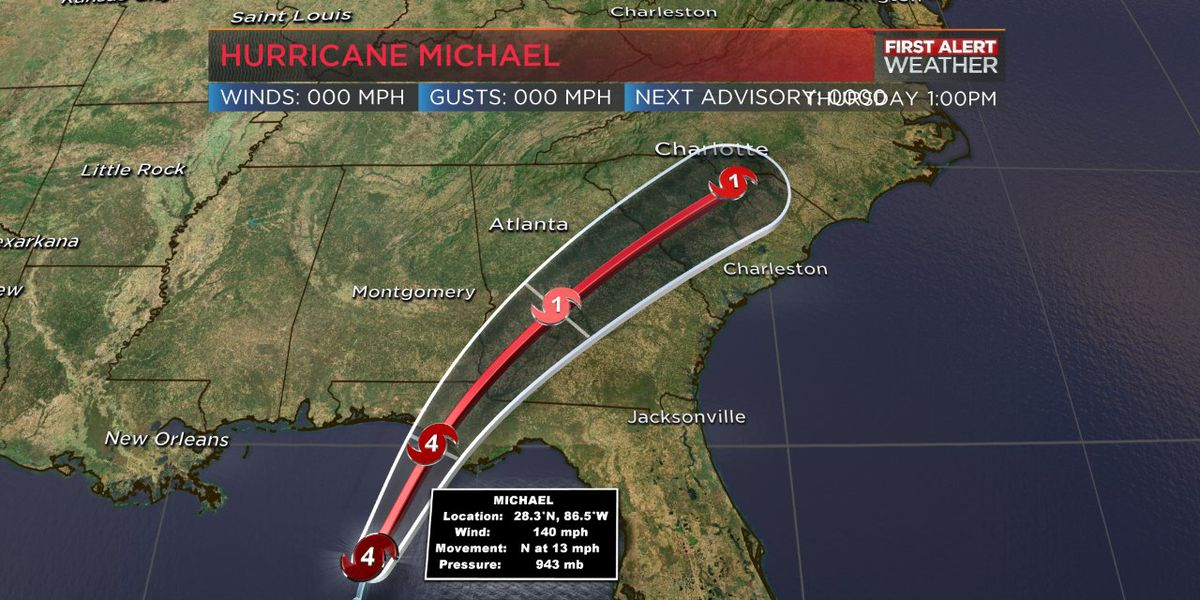 Hurricane Michael remains a very strong category 4 storm
