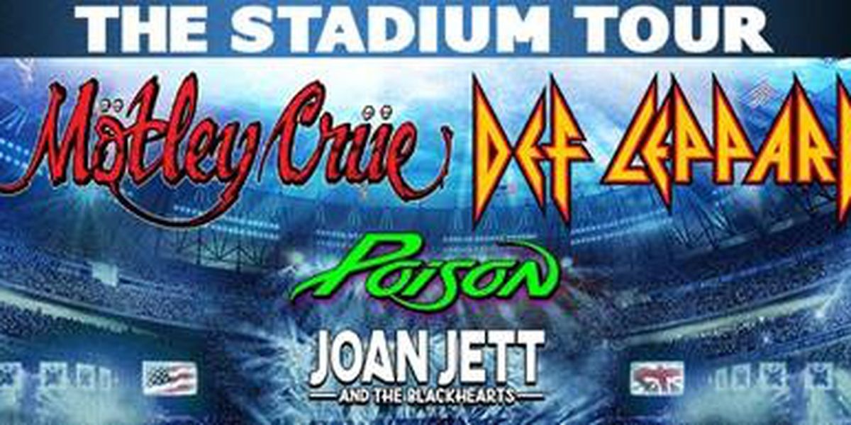 Def Leppard, Mötley Crüe, Poison and more bringing 'The Stadium Tour' to Charlotte in 2020