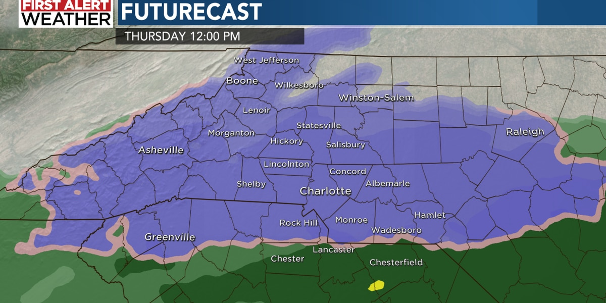 Rain moves out Tuesday night - snow next?