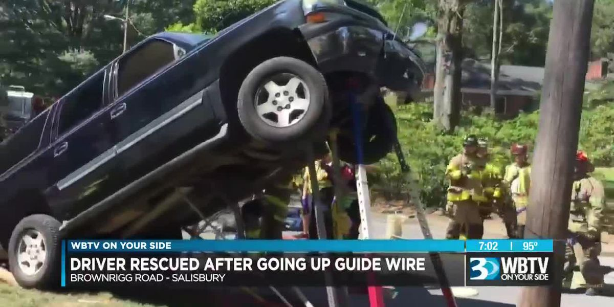 Police: Impaired driver launches SUV on power pole guy-wires