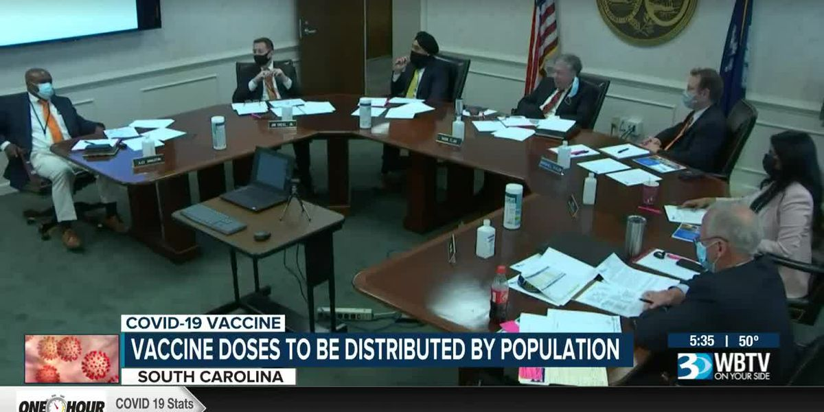S.C. vaccine doses to be distributed by population