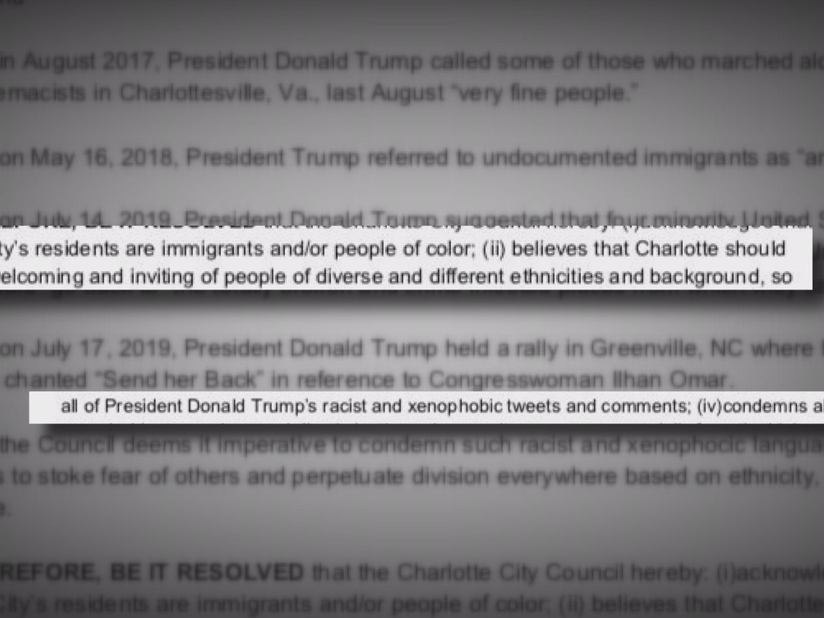 City council votes on resolution condemning hate speech after Trump rally in North Carolina