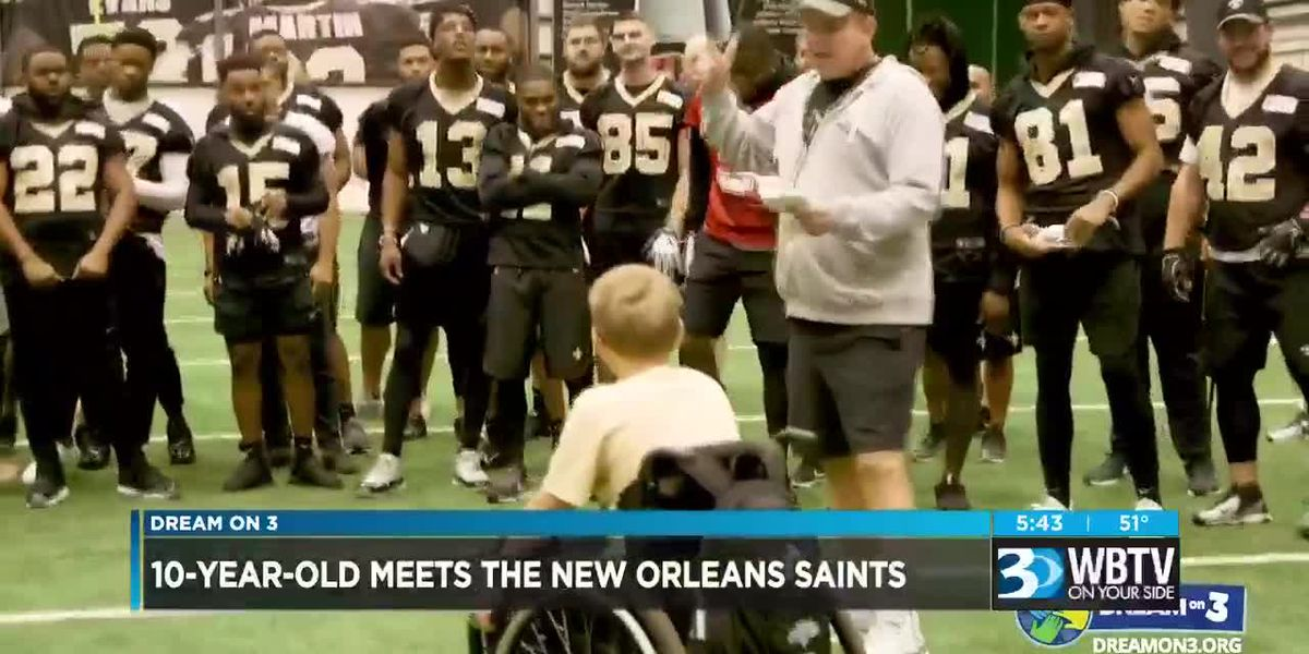 Dream On 3: 10-year-old meets New Orleans Saints