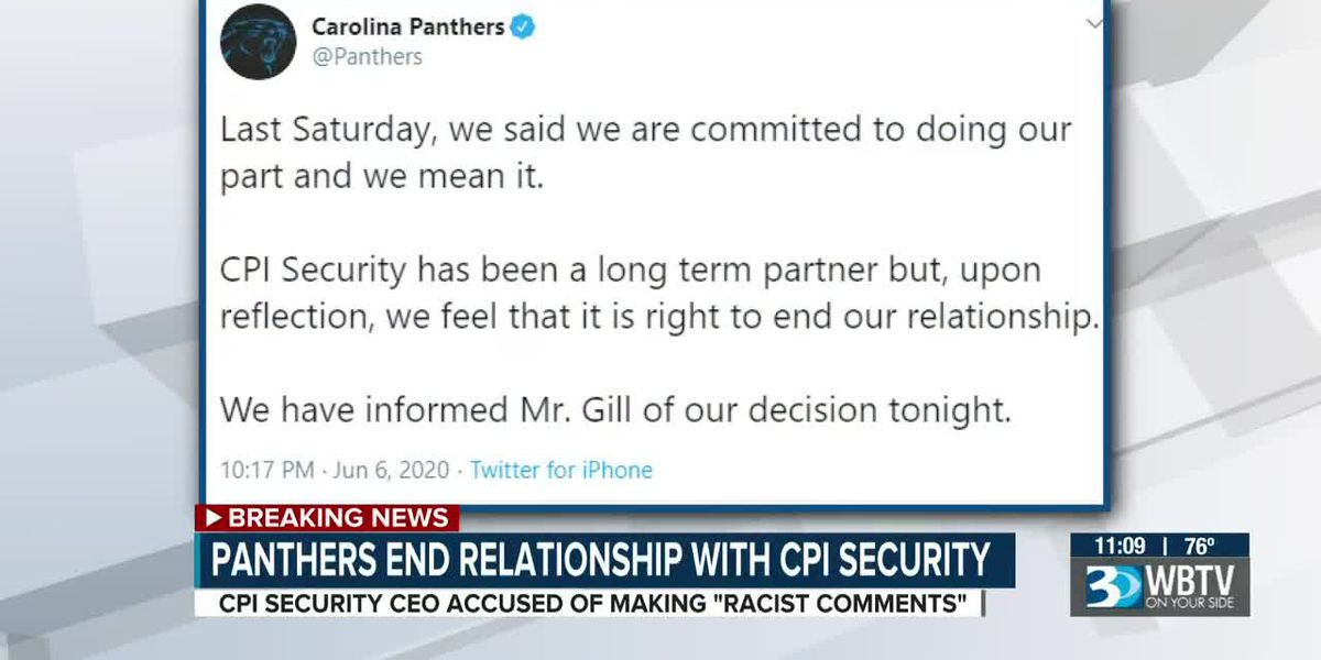 Panthers end their relationship with CPI Security after CEO's George Floyd protest remarks