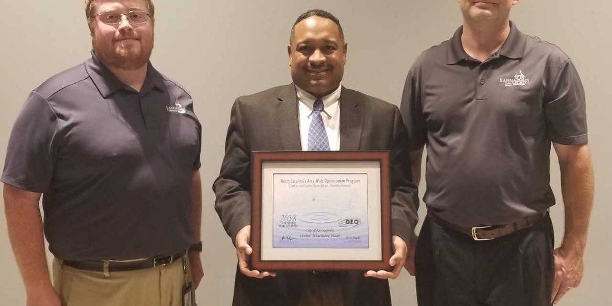 City of Kannapolis Water Treatment Plant receives award