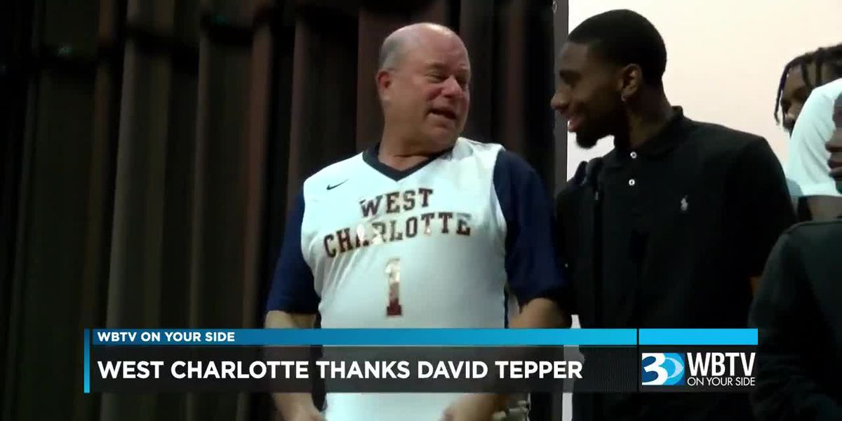 West Charlotte High School thanks Panthers owner David Tepper