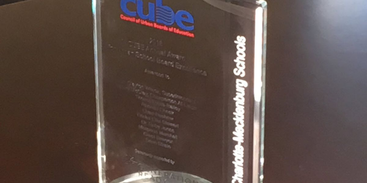 CMS School Board wins CUBE Award for Excellence
