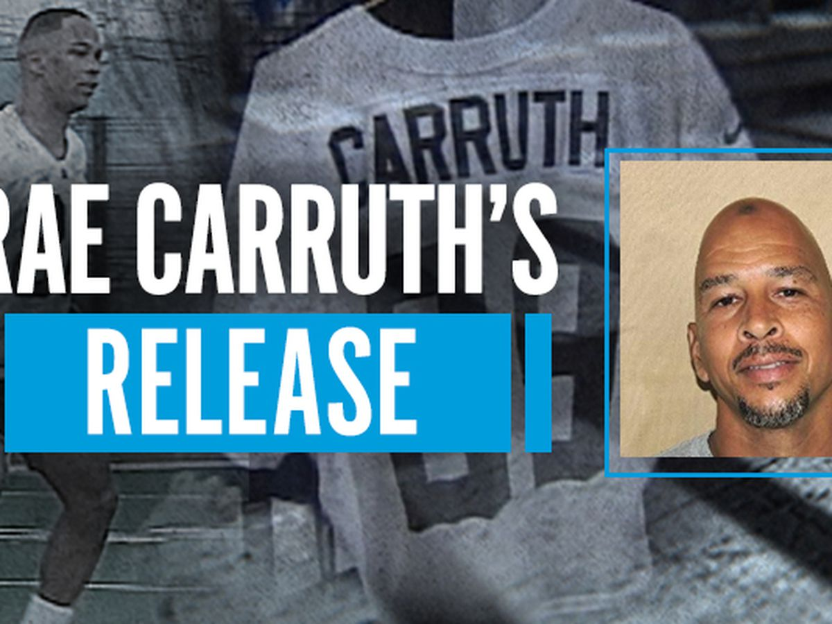 Former Carolina Panthers receiver Rae Carruth will walk free Monday