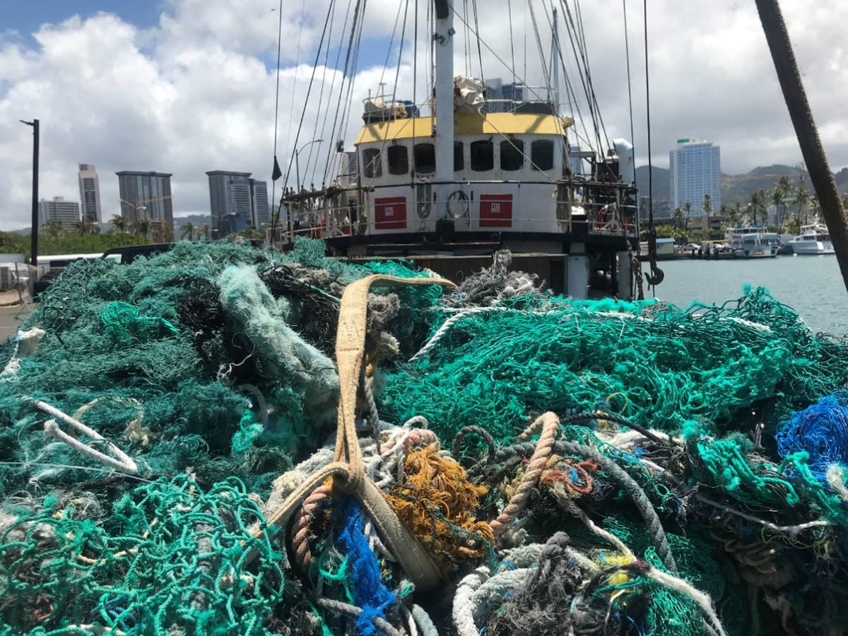 Using GPS locators, crew collects 40 tons of 'ghost nets' floating in Pacific