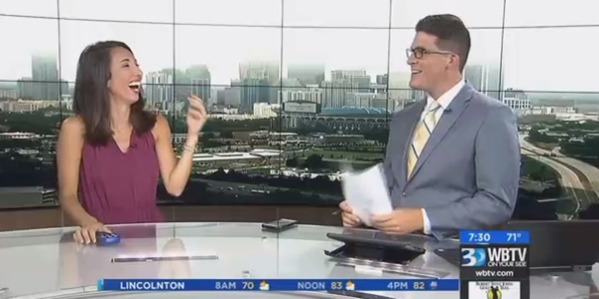 VIDEO: Anchors lose it after cobbler causes on-air belch