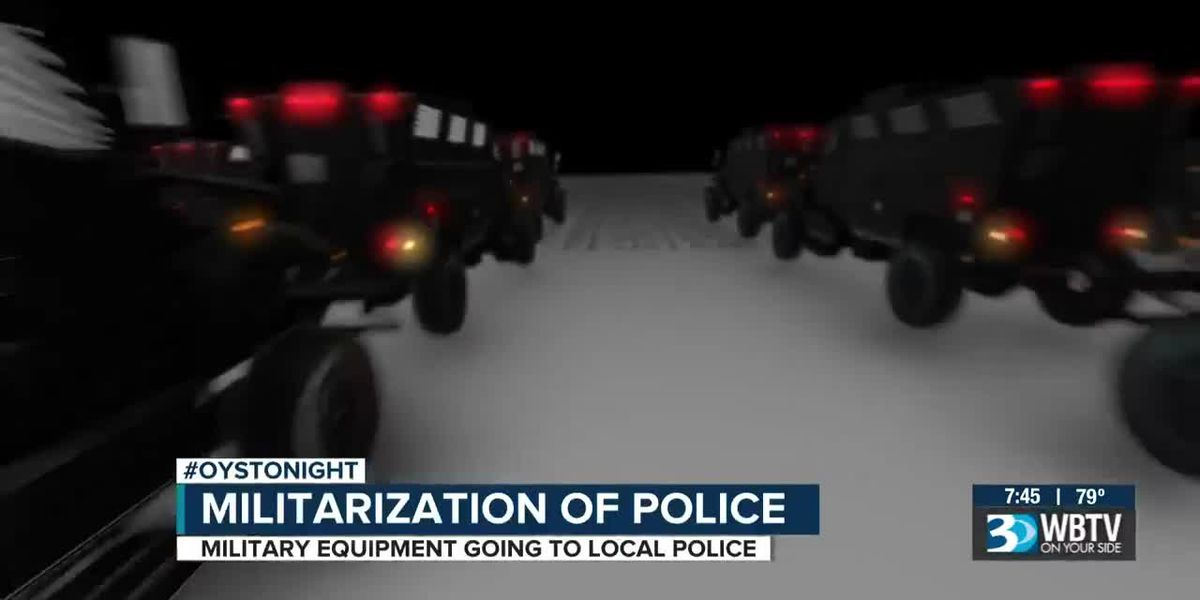 Military equipment sent to police departments around the country
