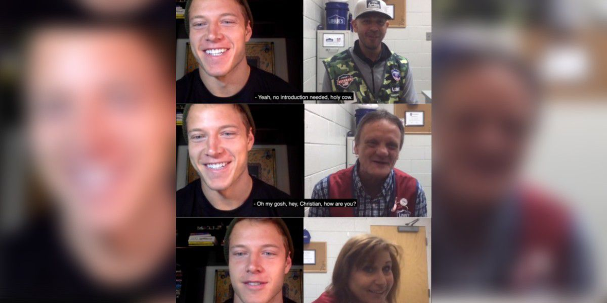 Christian McCaffrey surprises Lowe's workers with video call, invites them to Panthers games