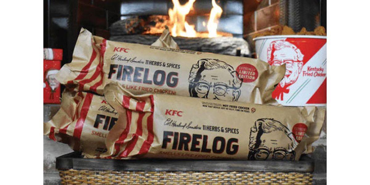 KFC introduces firelog that smells like fried chicken