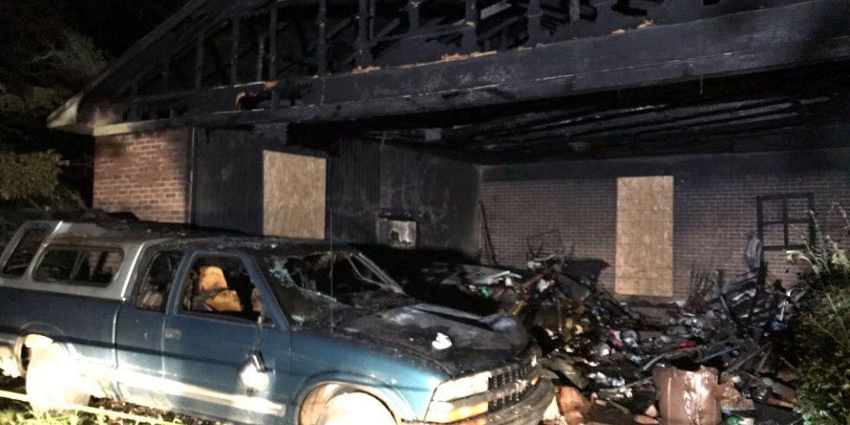 Firefighter injured battling blaze believed to be sparked by lightning