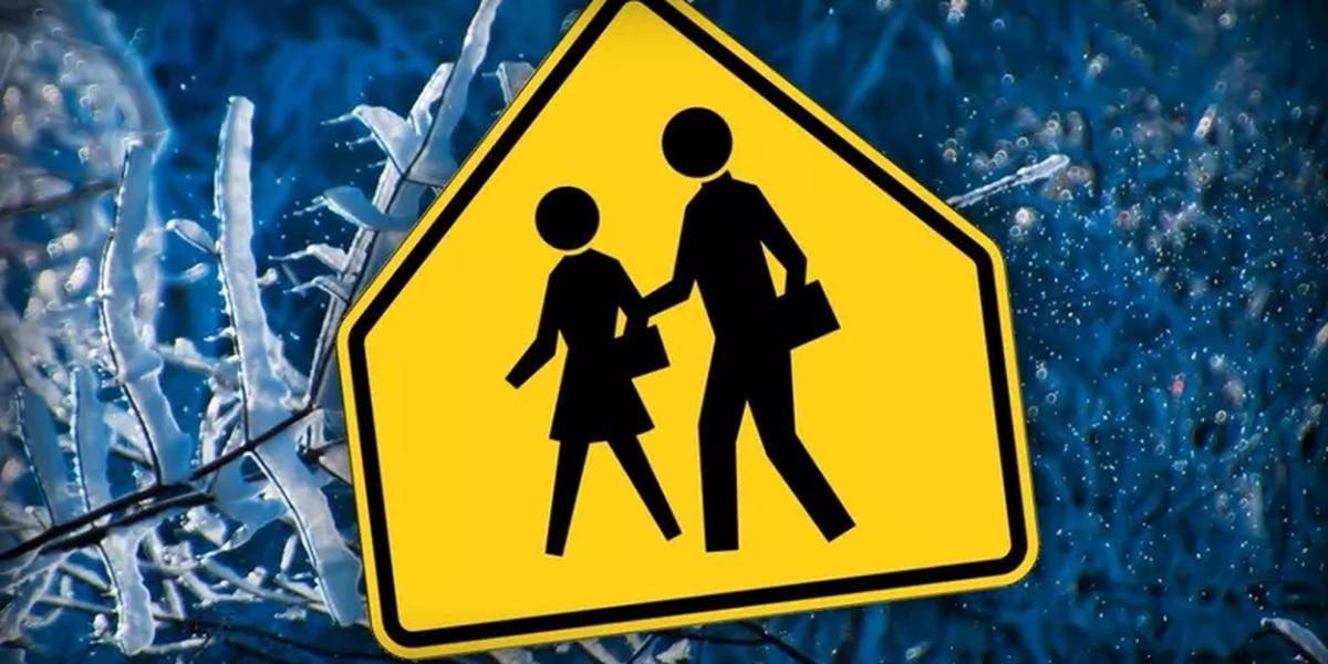 Schools announce closings, delays due to hazardous roads