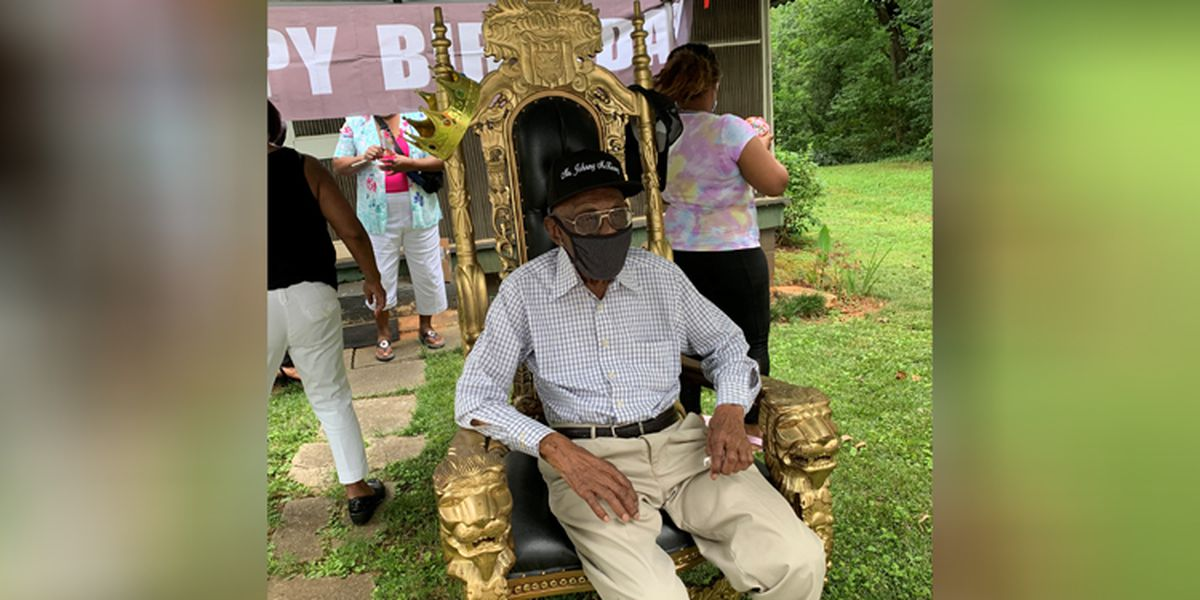 Family, church friends celebrate Rock Hill man's 102nd birthday with drive-thru parade