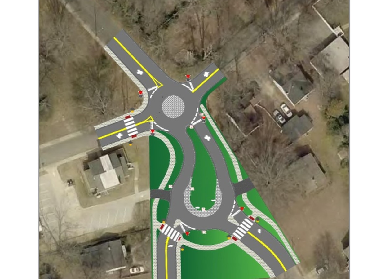 City of Concord to convert intersection to innovative mini roundabout teardrop