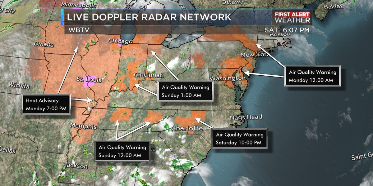 Hot temps, low rain chances expected into work week