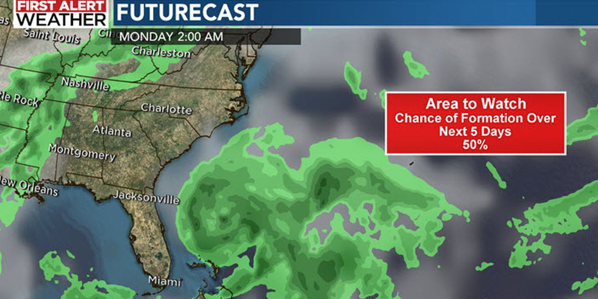 NHC: Tropical disturbance could develop off the coast of the southeastern U.S. this weekend