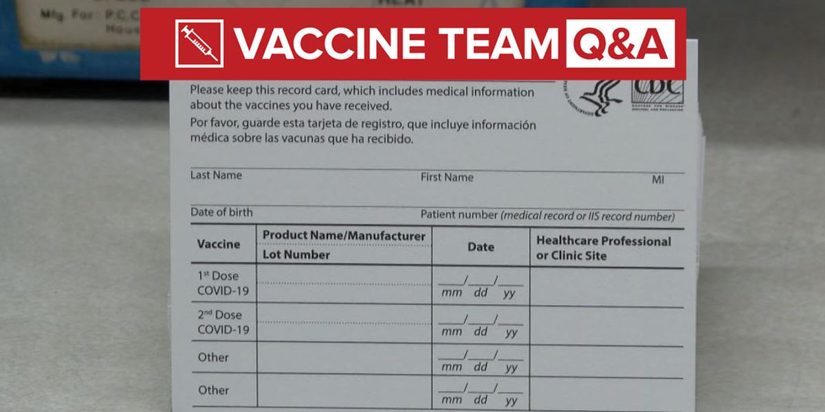 VACCINE TEAM: Can I laminate my vaccination card to keep it safe?