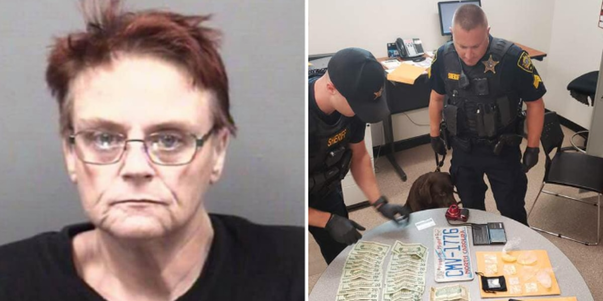 Woman charged after drugs and cash found in stolen car