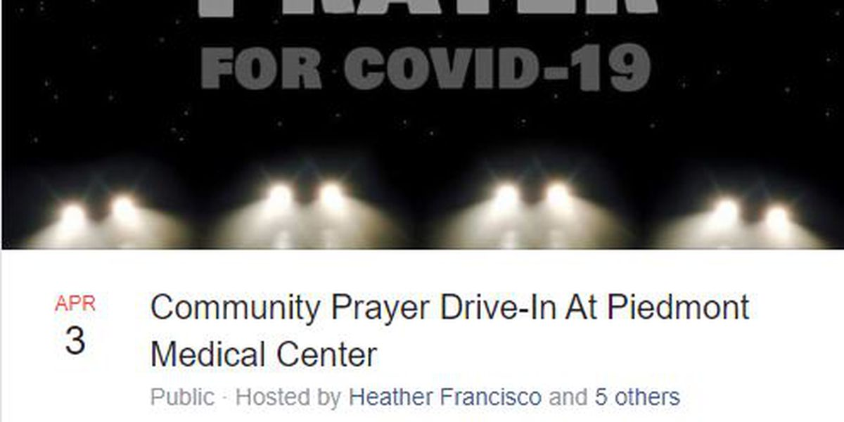 Hundreds to attend SC prayer drive-in for COVID-19 medical staff and patients