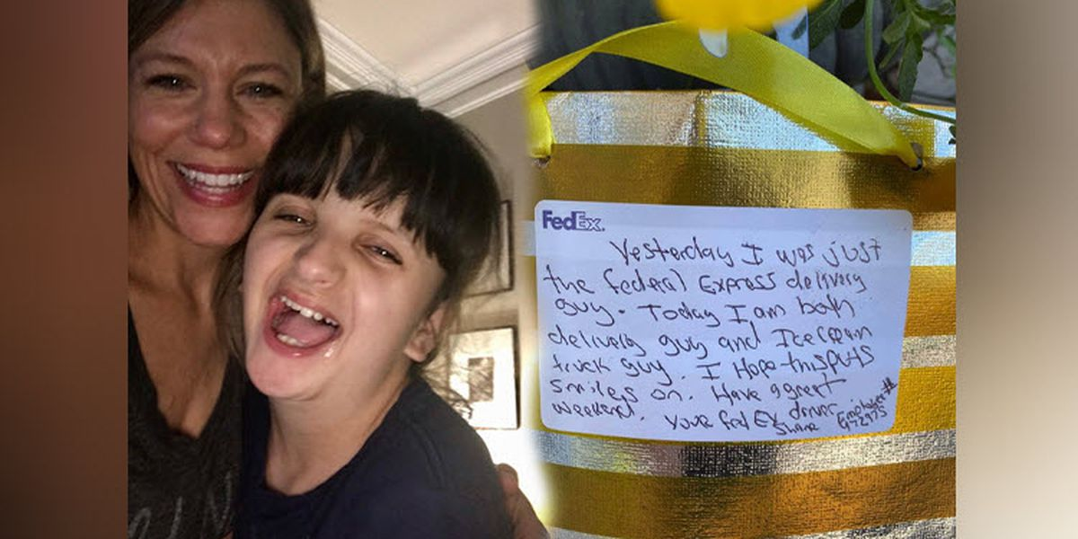 FedEx driver becomes hero after girl with special needs mistakes him for ice cream man
