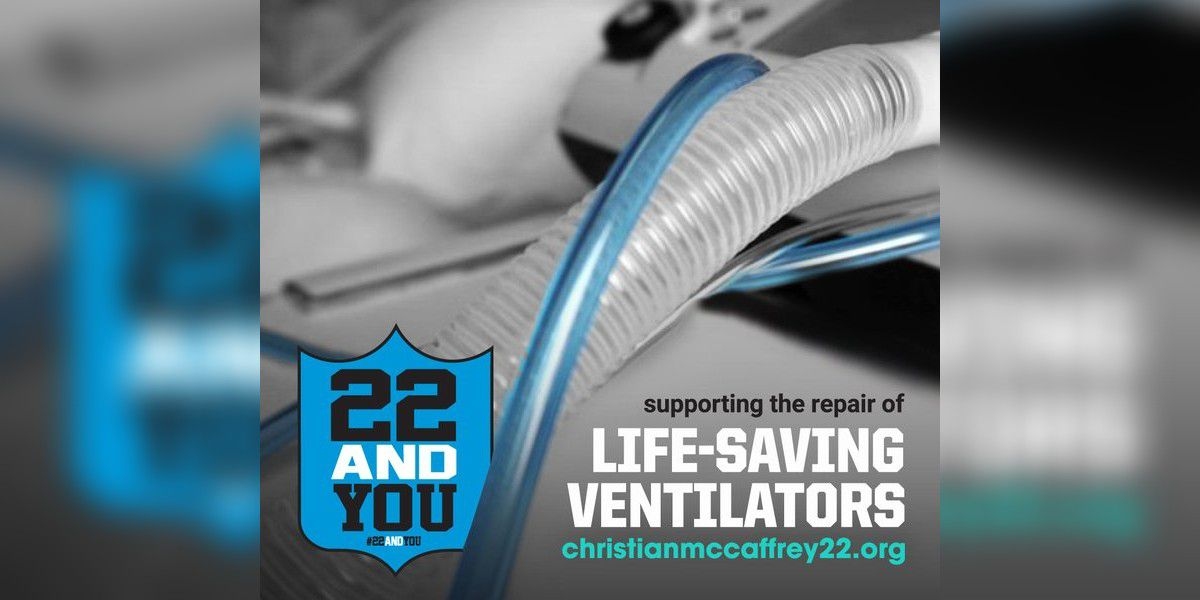 Christian McCaffrey's '22 and You' initiative now supports repair of life-saving ventilators