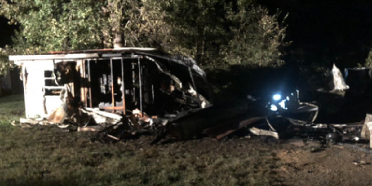 Two displaced after fire destroys Rowan County mobile home