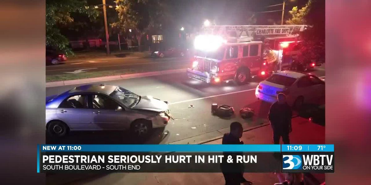 Person hit by car, seriously injured in south Charlotte, driver flees on foot