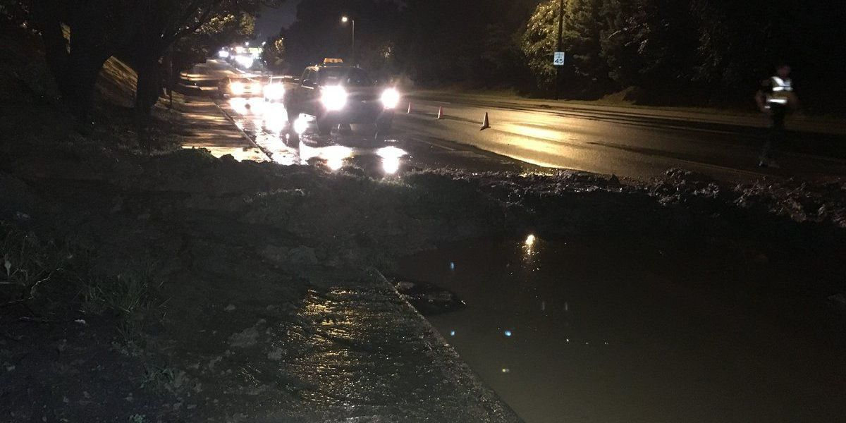 Storms leave behind downed trees, sink hole and road closures