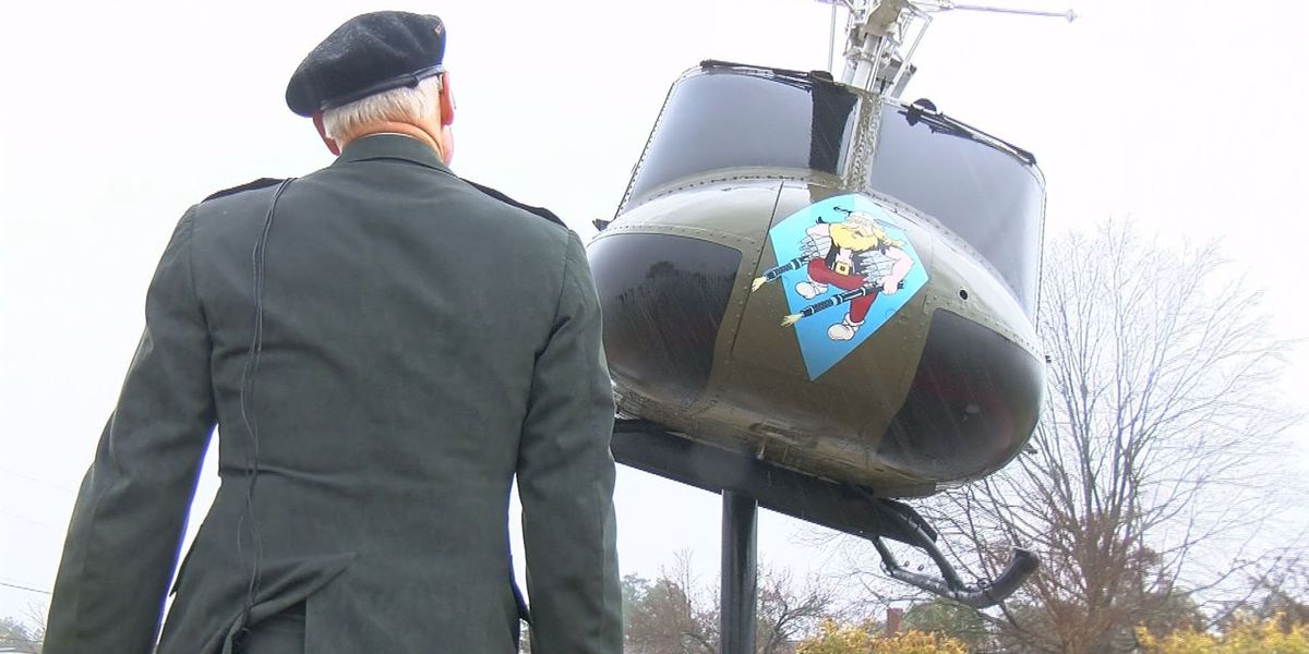 Vietnam War veteran reunites with war helicopter after five decades