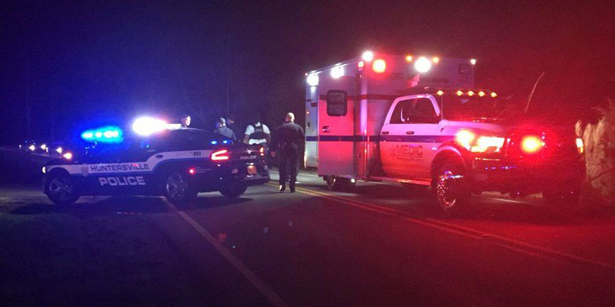 Person seriously injured after car crash in Huntersville