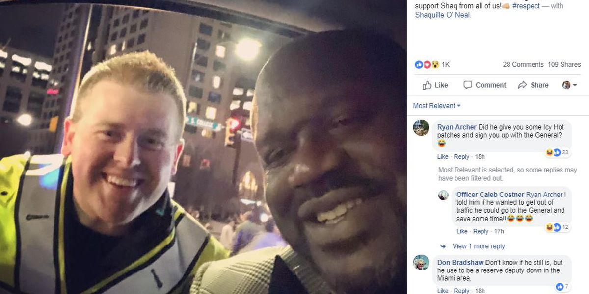 Shaquille O'Neal 'gives props' to CMPD during NBA All-Star weekend festivities